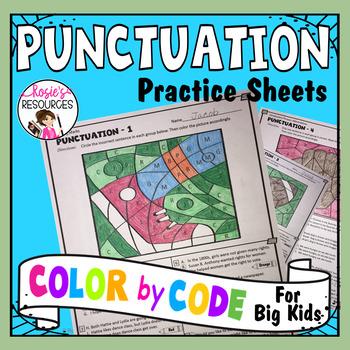 Color by Code Grammar - Punctuation