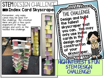 STEM Challenge - Design an Index Card Skyscraper