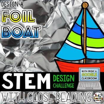 STEM Challenge Foil Boat Design STEM Activity Print AND Digital