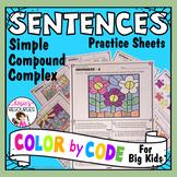 Color by Code Grammar - Sentences