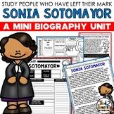 Sonia Sotomayor Mini Biography Unit