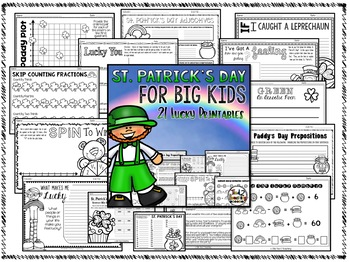 St. Patrick's Day activities & printables for ELA and Math