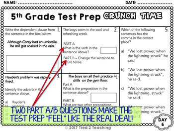 50% OFF 1ST 24 HRS Test Prep 5th Grade Language for Google Classroom