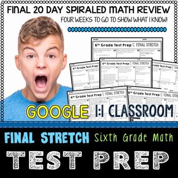 Test Prep 6th Grade Math for Google Classroom