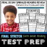 Reading Test Prep   6th Grade Reading Test Prep