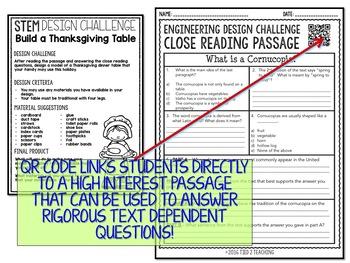 Thanksgiving STEM Thanksgiving Table Challenge