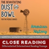 The Dust Bowl Reading Passage - Differentiated Close Reading