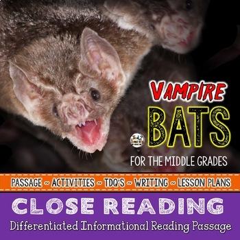 VAMPIRE BATS a Halloween Close Reading Passage