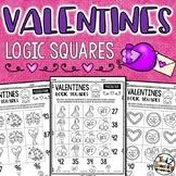 Valentines Logic Square Puzzle Activities