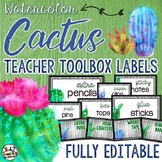 Cactus Teacher Toolbox Labels EDITABLE