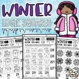 Winter Math Logic Square Puzzles