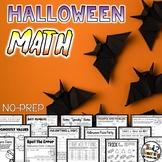 Halloween Math No Prep Halloween Activities