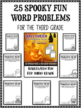 Halloween Math Word Problem of the Day 3rd Grade