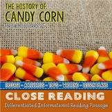 History of Candy Corn a Fall Close Reading Passage