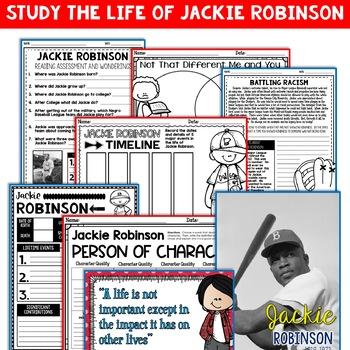 Jackie Robinson Mini Biography Unit