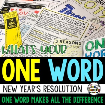 One Word New Years Resolutions And New Years Activities 2021 And Goal Setting