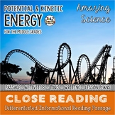 Potential and Kinetic Energy Differentiated Close Reading Passage