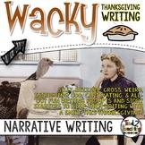 Thanksgiving Narrative Writing Task Cards & Writing Activities