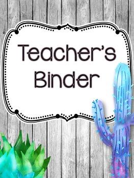 Cactus Binder Covers EDITABLE