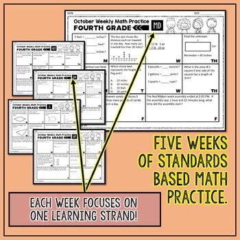 4th Grade Math Review | 4th Grade Math Homework for October