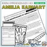 Amelia Earhart Reading Comprehension Passage and Questions