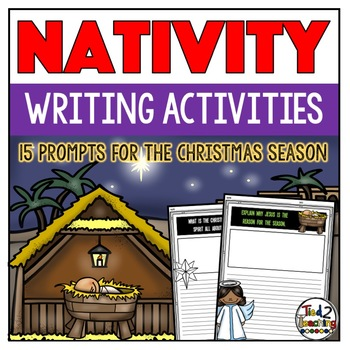 Christmas Writing Prompts Nativity and Religious Theme