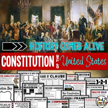 Constitution Day Activities and Reading Passages