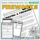 Fireworks Reading Comprehension Passage and Questions