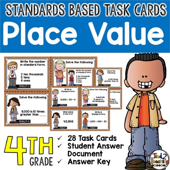 Place Value Task Cards 4th Grade