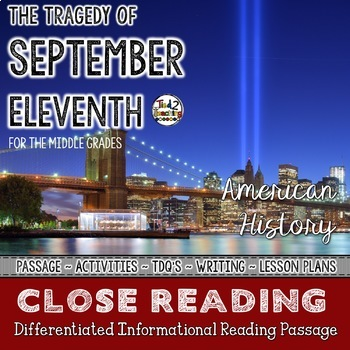September 11th - Patriot Day - Differentiated Close Reading