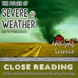 Severe Weather - Differentiated Close Reading