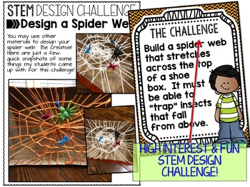 Spider Web Halloween STEM Challenge