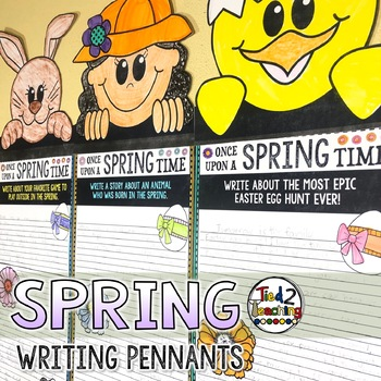 Spring and Easter Activities Writing Pennant Banner Craft