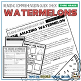 Watermelons Reading Comprehension Passage and Questions