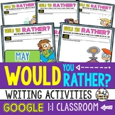 Would You Rather Questions for MAY Google Classroom Activities
