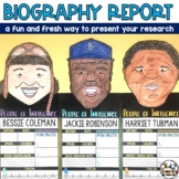 Biography Report Project with Women's History Month Activities