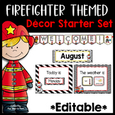 Firefighter Classroom Decor | Editable