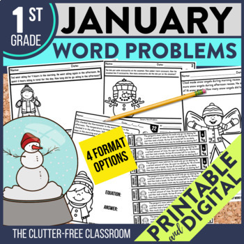 1st GRADE JANUARY WORD PROBLEMS
