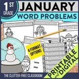 50% OFF 1st 24 HOURS | 1st GRADE JANUARY WORD PROBLEMS