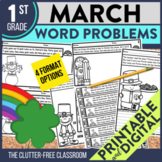 1st GRADE MARCH WORD PROBLEMS