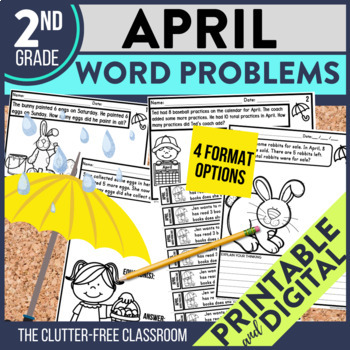 2nd GRADE APRIL WORD PROBLEMS