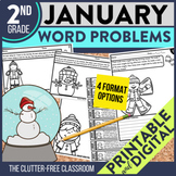 2nd GRADE JANUARY WORD PROBLEMS