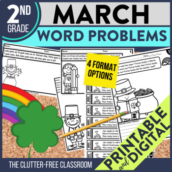 50% OFF 1st 24 HOURS | 2nd GRADE MARCH WORD PROBLEMS