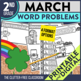 2nd Grade March Word Problems printable and digital math a
