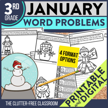 50% OFF 1st 24 HOURS | 3rd GRADE JANUARY WORD PROBLEMS