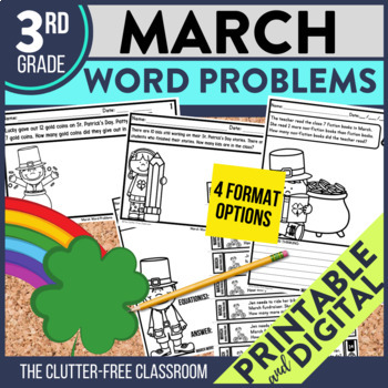 3rd GRADE MARCH WORD PROBLEMS