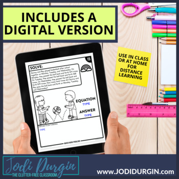 50% OFF 1st 24 HOURS | 4th GRADE MARCH WORD PROBLEMS