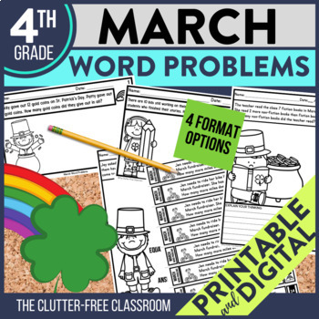 4th GRADE MARCH WORD PROBLEMS