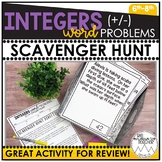 Integer Word Problems | Scavenger Hunt