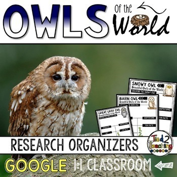 Owls Report: Research Project Organizers GOOGLE CLASSROOM